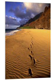 Foam board print  Footprints on Kalalau Beach - Douglas Peebles
