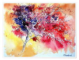 Premium poster  Red tree - Pol Ledent