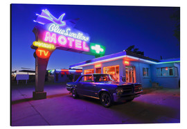 Aluminium print  The famous Blue Swallow Motel - Julien McRoberts