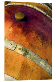 Acrylic print  Old oak barrel with red wine - Janis Miglavs