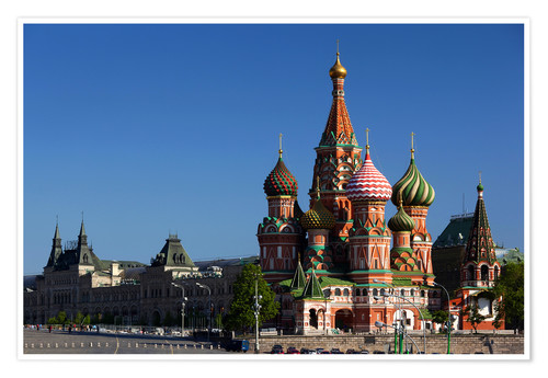 Premium poster St. Basil's Cathedral in Moscow