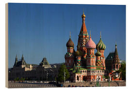 Wood  St. Basil's Cathedral on Red Square in Moscow - Walter Bibikow