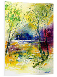 Foam board print  The glade in the forest - Pol Ledent