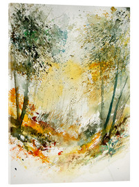 Acrylic glass  The forest in autumn - Pol Ledent