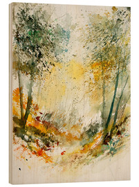 Wood print  The forest in autumn - Pol Ledent