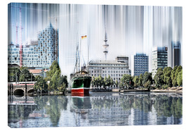 Canvas print  Hamburg Germany World Skyline - Städtecollagen