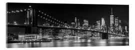 Acrylic glass  New York City Night Skyline - Melanie Viola
