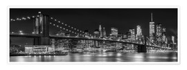 Premium poster  New York City Skyline - Melanie Viola