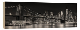 Wood print  New York City Skyline - Melanie Viola