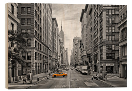 Wood print  NEW YORK CITY 5th Avenue - Melanie Viola