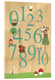 Acrylic print  Educational Numbers - learn to count - GreenNest