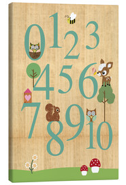 Canvas  Educational Numbers - learn to count - GreenNest