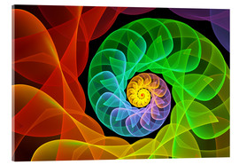 Acrylic print  Fractal 'The colors and the light' - gabiw Art