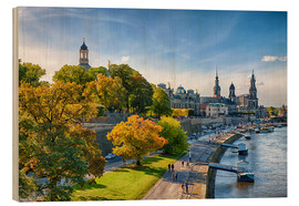 Wood print  Historic Center of Dresden Germany - Stefan Becker