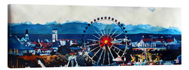Canvas print  Munich Oktoberfest with Alps Panorama - M. Bleichner
