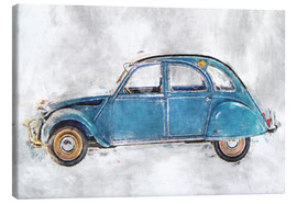 Canvas  Citroen  2 CV oldtimer - LoRo-Art