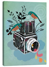 Canvas print  Vintage camera with birds - Elisandra Sevenstar