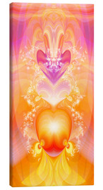 Canvas  Spirit Love - I follow my loving heart - Dolphins DreamDesign