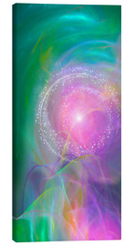 Canvas print  Spirit Love - I am open to the divine power - Dolphins DreamDesign