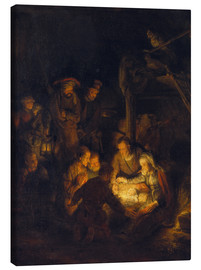 Canvas  Adoration of the Shepherds. 1646 - Rembrandt van Rijn