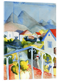 Acrylic print  Saint Germain near Tunis - August Macke