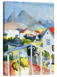 Canvas  Saint Germain near Tunis - August Macke