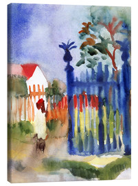 Canvas print  Garden Gate - August Macke