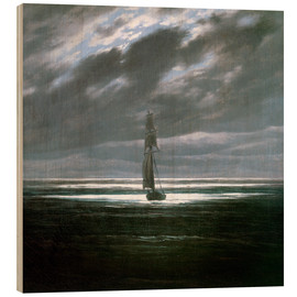 Wood  Seascape in the Moonlight - Caspar David Friedrich