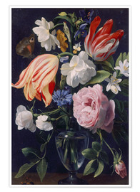 Premium poster  Vase with flowers. 1637 - Daniel Seghers