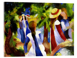 Acrylic print  Girls under trees - August Macke