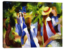 Canvas print  Girls under trees - August Macke
