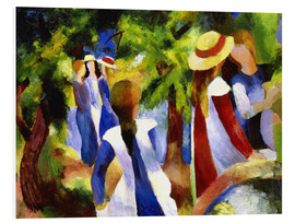 Foam board print  Girls under trees - August Macke