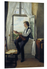 Foam board print  The violinist at the window in 1861 - Otto Franz Scholderer