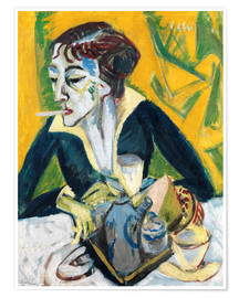 Premium poster  Erna with a Cigarette - Ernst Ludwig Kirchner