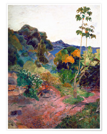 Premium poster  Coastal landscape on Martinique - Paul Gauguin