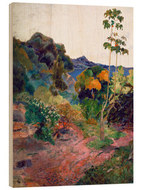 Wood print  Coastal landscape on Martinique - Paul Gauguin