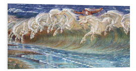 Foam board print  The Horses of Neptune - Walter Crane