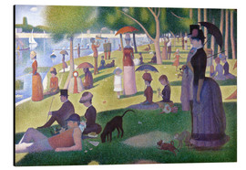 Aluminium print  A sunday afternoon on the island of La Grande Jatte - Georges Seurat