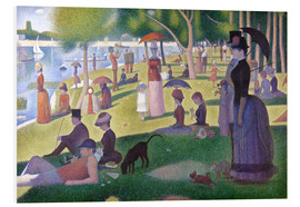 Foam board print  A sunday afternoon on the island of La Grande Jatte - Georges Seurat