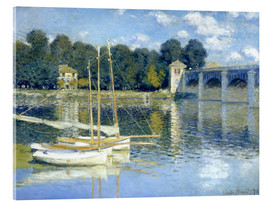Acrylic print  The Bridge at Argenteuil - Claude Monet