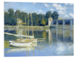 Foam board print  The Bridge at Argenteuil - Claude Monet