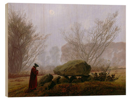 Wood  Walk at dusk (man contemplating a megalithic grave) - Caspar David Friedrich