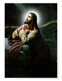 Premium poster  Christ on the Mount of Olives. Nazarene of romanticism.