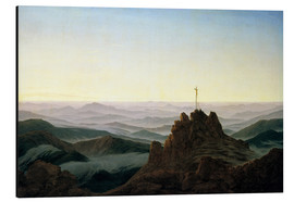 Alu-Dibond  Morning in the Giant Mountains - Caspar David Friedrich