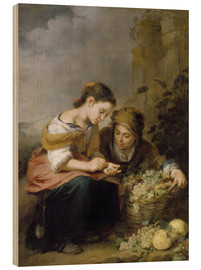 Wood print  The Little Fruit Seller - Bartolome Esteban Murillo