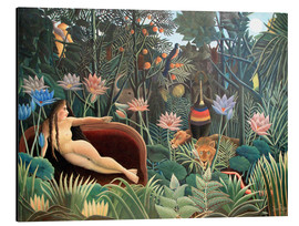 Aluminium print  The dream - Henri Rousseau