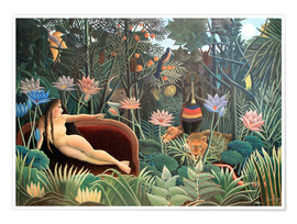 Premium poster  The dream - Henri Rousseau