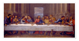 Premium poster  The Last Supper, after Leonardo da Vinci - Nicolas Poussin