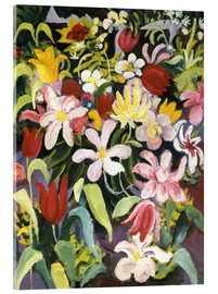 Acrylic print  Carpet of flowers - August Macke