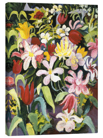 Canvas print  Carpet of flowers - August Macke